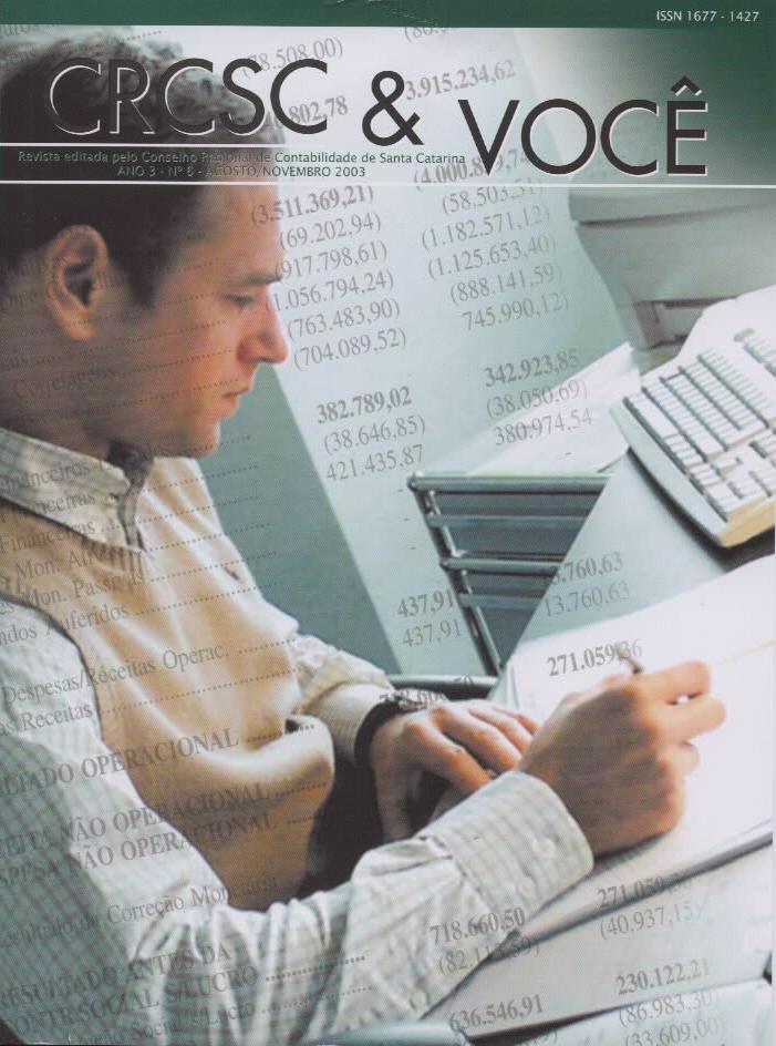Visualizar v. 3 n. 6 (2003): Agosto-Novembro