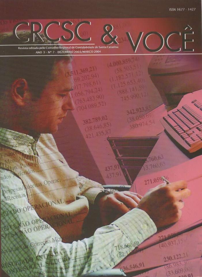 Visualizar v. 3 n. 7 (2004): Dezembro-Março