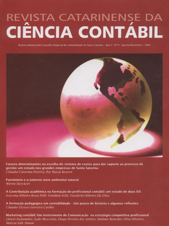 Visualizar v. 3 n. 9 (2004): Agosto-Novembro
