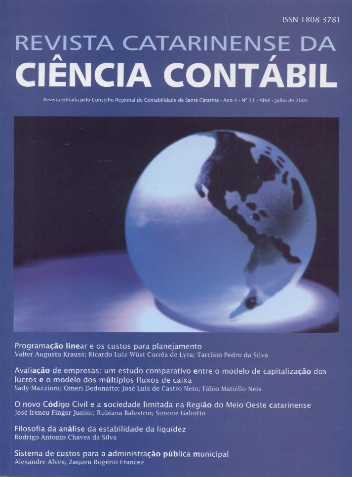 Visualizar v. 4 n. 11 (2005): Abril-Julho