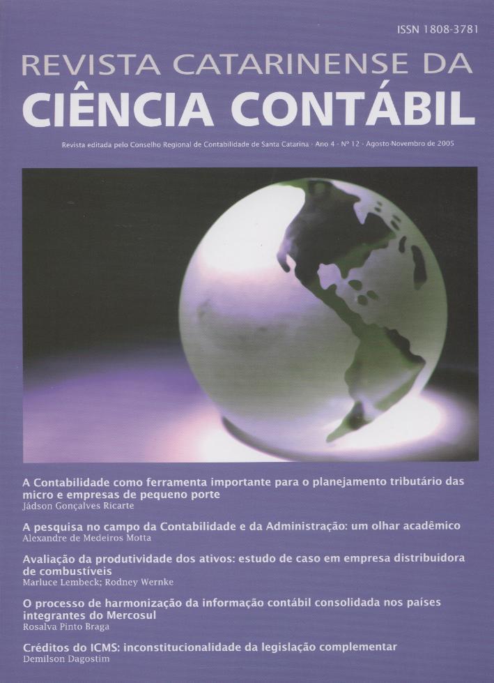 Visualizar v. 4 n. 12 (2005): Agosto-Novembro