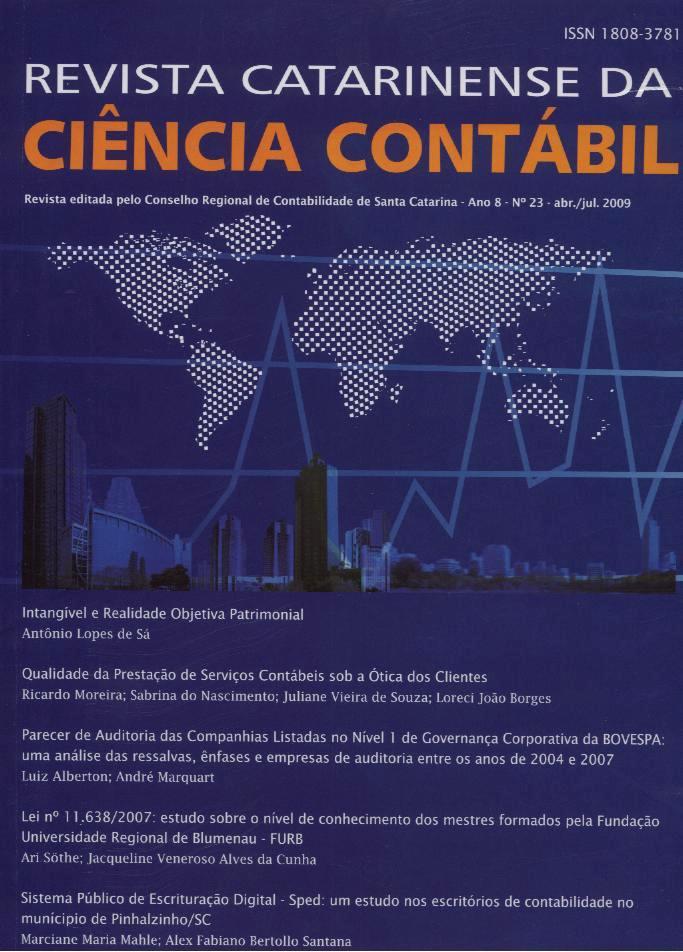 Visualizar v. 8 n. 23 (2009): Abril-Julho