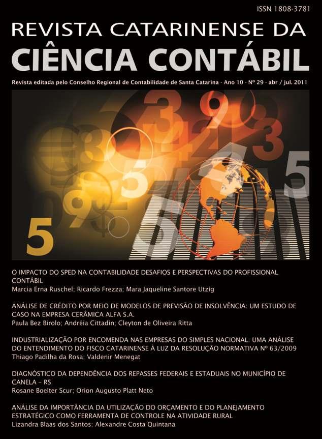 Visualizar v. 10 n. 29 (2011): Abril-Julho